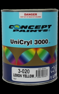 Concept Paints UniCryl 3000™: 3-050 Bright Yellow  - 1L