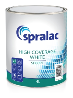 Spralac SP0091 Factory Pack: High Coverage White - 4L