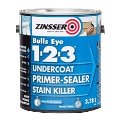 Zinsser® Bulls Eye 1-2-3® Primer Sealer: White - 3.78L