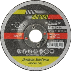 Maxabrase Stainless Silver Series Grinding Disc: 100mm x 6mm