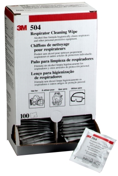 3M™ 504 Respirator Cleaning Wipe - Box of 100