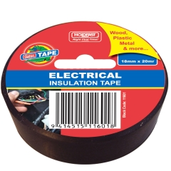 Gator Electrical Insulation Tape: 18mm x 20m Black - Roll