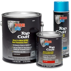 POR-15® Top Coat DTM: Gloss Black - 946ml